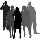 Vector silhouettes of business people. Stock Photography