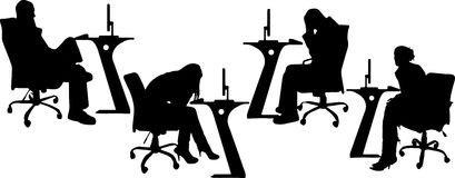 Vector Silhouettes of businesspeople Stock Image