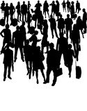 Vector Silhouettes of businesspeople Stock Photography