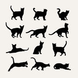 Vector silhouettes of cats Royalty Free Stock Image