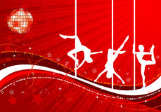 Vector silhouettes dancing women Royalty Free Stock Image