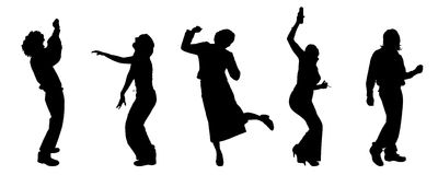 Vector silhouettes of different people. Stock Images