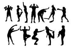Vector silhouettes of different people. Stock Photography