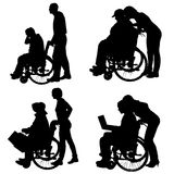 Vector silhouettes of different people. Stock Image