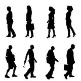Vector silhouettes of different people. Vector silhouettes of different people on a white background Stock Image