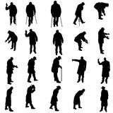 Vector silhouettes of different people. Royalty Free Stock Photo