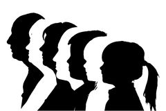 Vector silhouettes family. Stock Image