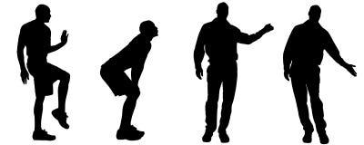 Vector silhouettes of gay. Vector silhouettes of men who are gay Stock Photos