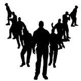 Vector silhouettes of gay. Vector silhouettes of men who are gay Royalty Free Stock Photos