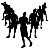 Vector silhouettes of gay. Stock Images