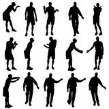 Vector silhouettes of gay. Royalty Free Stock Photography