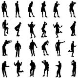 Vector silhouettes of gay. Royalty Free Stock Photos