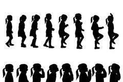 Vector silhouettes girl. Stock Image