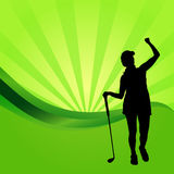 Vector silhouettes of golf. Royalty Free Stock Images