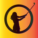 Vector silhouettes of golf. Stock Photography