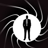 Vector silhouettes of man. Royalty Free Stock Photography