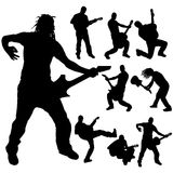 Vector silhouettes man. Royalty Free Stock Images