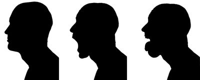 Vector silhouettes man. Stock Photography