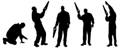 Vector silhouettes man. Stock Image