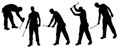 Vector silhouettes man. Royalty Free Stock Image