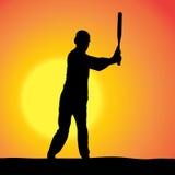 Vector silhouettes of man. Stock Photos