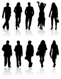 Vector silhouettes man and wom Royalty Free Stock Images