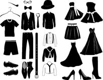 Vector clothes royalty free illustration