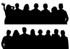 Vector silhouettes man and women Royalty Free Stock Images