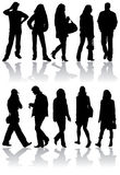 Vector silhouettes man and women Royalty Free Stock Image