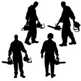 Vector silhouettes man. Royalty Free Stock Photography