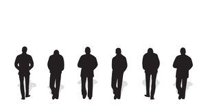 Vector silhouettes of men Stock Photography