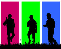 Vector silhouettes of men. Stock Image