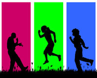 Vector silhouettes of men. Royalty Free Stock Photography