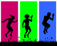 Vector silhouettes of men. Royalty Free Stock Photo