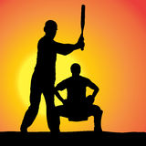 Vector silhouettes of men. Royalty Free Stock Images