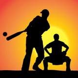 Vector silhouettes of men. Stock Photos