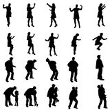 Vector silhouettes of people. Vector silhouettes of people in different situations Stock Photo