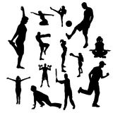 Vector silhouettes of people. Stock Images
