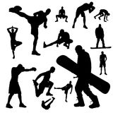 Vector silhouettes of people. Stock Photos