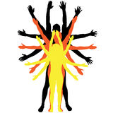 Vector silhouettes of people. Royalty Free Stock Images