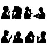 Vector silhouettes people. Royalty Free Stock Image