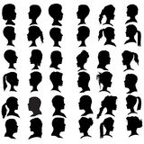 Vector silhouettes people. Royalty Free Stock Images