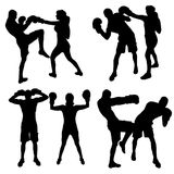 Vector silhouettes of people. Vector silhouettes of people in sports on a white background Stock Photo