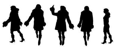 Vector Silhouettes of people Royalty Free Stock Image