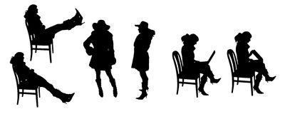 Vector Silhouettes of people Royalty Free Stock Images