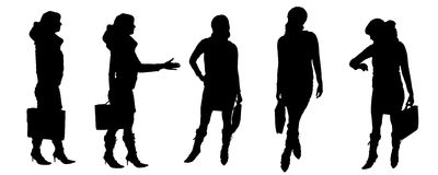 Vector Silhouettes of people Royalty Free Stock Photography