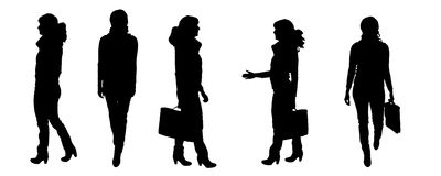 Vector Silhouettes of people Royalty Free Stock Photos