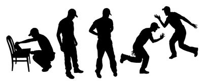 Vector Silhouettes of people Stock Photos