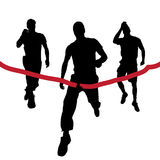 Vector silhouettes of runners. Vector silhouettes of runners in the race Royalty Free Stock Image