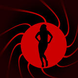 Vector silhouettes of sexy woman. Stock Images